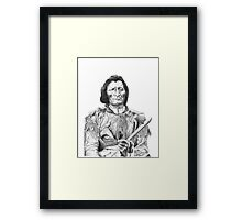 Dull Knife (Pen And Ink) Framed Print