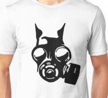 Future War Dog with a gas mask Unisex T-Shirt