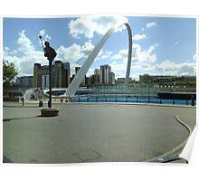 Newcastle,Millenium bridge Poster
