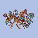 Folk Art Horse by Kayleigh Walmsley