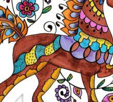 Folk Art Horse Sticker