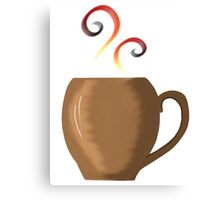 Brown cup of fresh coffee or tea Canvas Print