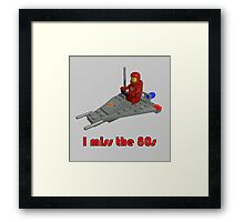 I miss the 80s (especially my Lego) Framed Print
