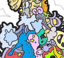 Colorful Koi Fish Sticker