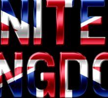 United Kingdom - British Flag - Metallic Text Sticker