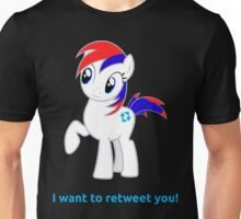 Tweety wants to retweet you! Unisex T-Shirt