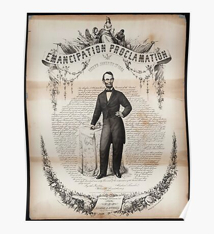 Emancipation proclamation issued January 14, 1863 Poster