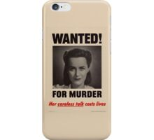 Careless Talk iPhone iPod Case iPhone Case/Skin
