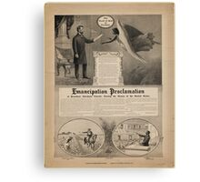 Emancipation proclamation of President Abraham Lincoln Freeing the Slaves of the United States Canvas Print