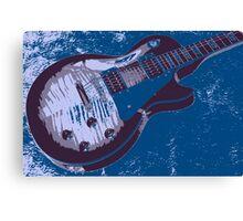 Les Paul artwork - Blue Canvas Print