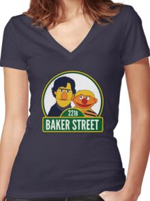 Baker Street Women's Fitted V-Neck T-Shirt