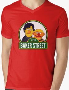 Baker Street Mens V-Neck T-Shirt