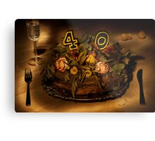 Birthday cake nr 40 Metal Print