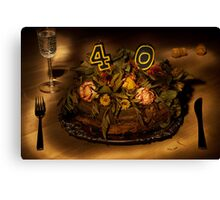 Birthday cake nr 40 Canvas Print