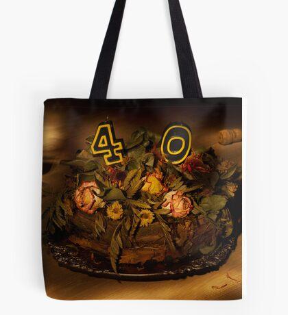 Birthday cake nr 40 Tote Bag