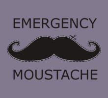 Emergency Moustache Kids Tee
