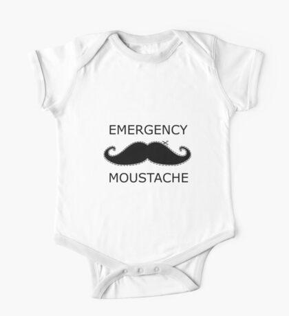 Emergency Moustache One Piece - Short Sleeve