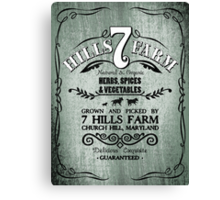 7 HILLS FARM Canvas Print