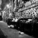 Hosiers Lane, Melb by Bevlea Ross