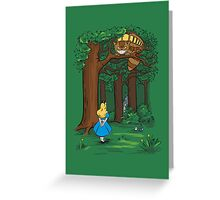 My Neighbor in Wonderland (Kelly Green) Greeting Card