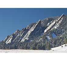 Snow Powder Dusted Flatirons Boulder Colorado Photographic Print
