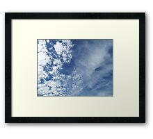 Air Turbulance Framed Print
