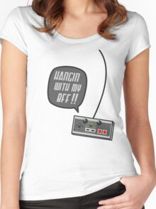 Hangin wit my BFF Women's Fitted Scoop T-Shirt