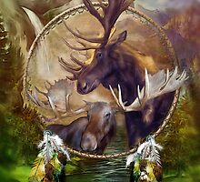 Dream Catcher - Spirit Of The Moose by Carol  Cavalaris
