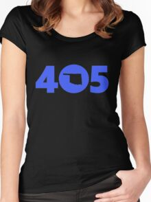 405 Oklahoma Proud Blue Women's Fitted Scoop T-Shirt