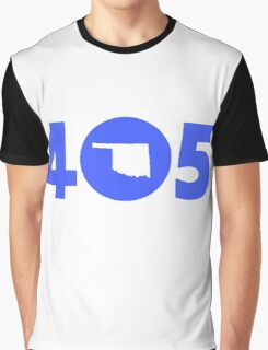 405 Oklahoma Proud Blue Graphic T-Shirt
