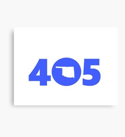 405 Oklahoma Proud Blue Canvas Print