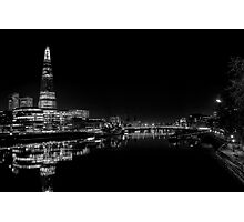 The Shard at Night black and White Photographic Print