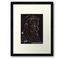 Thorin Oakenshield, Dark King Framed Print