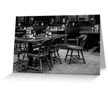 Empty Chairs At Empty Tables Greeting Card
