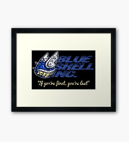 Blue Shell Inc. Framed Print