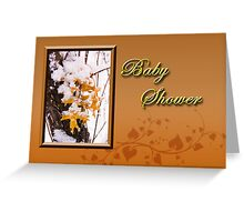 Baby Shower Leaves Greeting Card