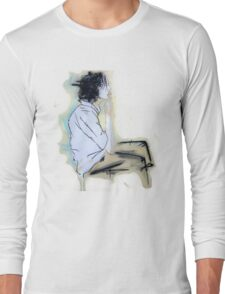 smoking adolescent Long Sleeve T-Shirt