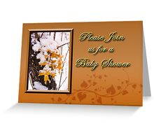 Please Join Us For A Baby Shower Leaves Greeting Card