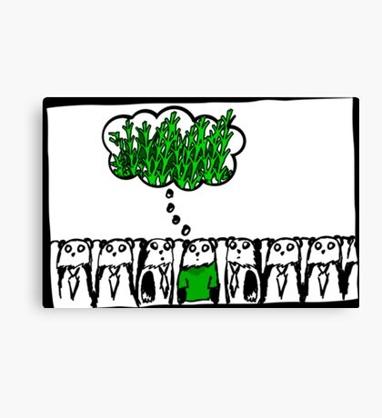 think green - even pandas do it Canvas Print