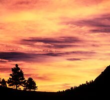 Red Rocks Sunset, Boulder Colorado by Gregory J Summers