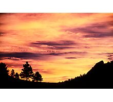 Red Rocks Sunset, Boulder Colorado Photographic Print