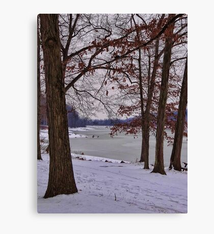 Keystone on a cold winter day Canvas Print