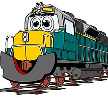 Tiel Train Engine Cartoon by Graphxpro