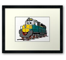Tiel Train Engine Cartoon Framed Print