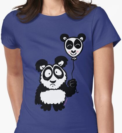 Just a Panda Womens Fitted T-Shirt
