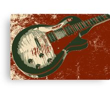 Les Paul artwork - Red Canvas Print