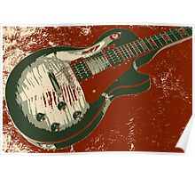 Les Paul artwork - Red Poster