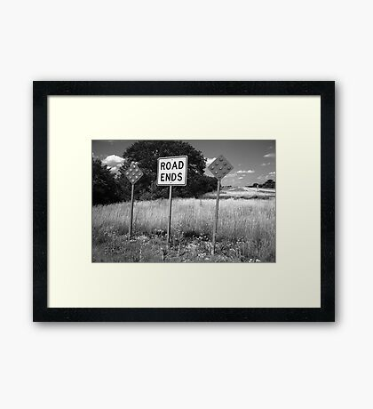 Route 66 - End of the Road Framed Print