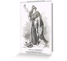 Vive La Republique Punch cartoon 1894 Greeting Card