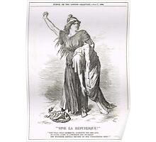 Vive La Republique Punch cartoon 1894 Poster
